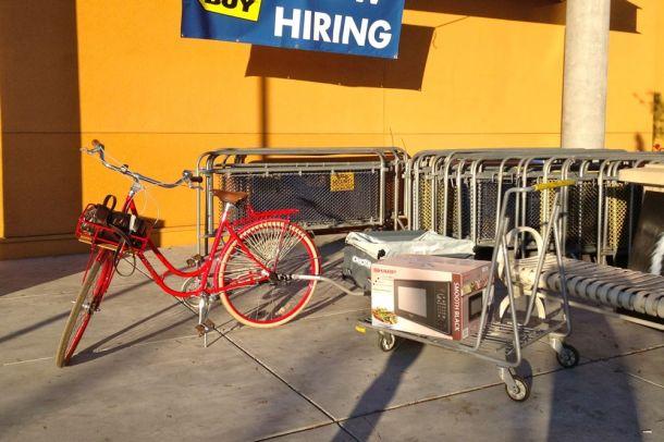 Microwave on Cart