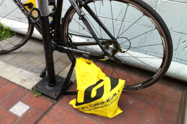 Musette Bag of Groceries