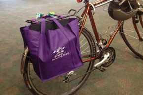 Making Panniers from Reusable Grocery Bags