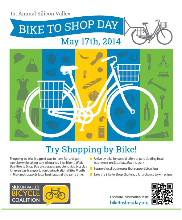 Participating merchants will display the Bike to Shop Day poster at their businesses.