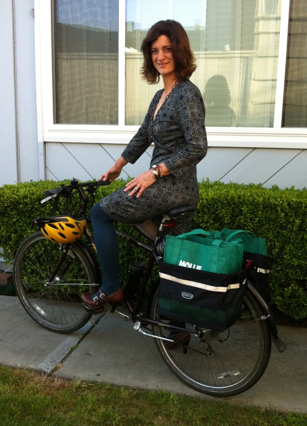 Janet Lafleur, Founder of Bike to Shop Day Silicon Valley. Bicycle Lifestyle Blogger.
