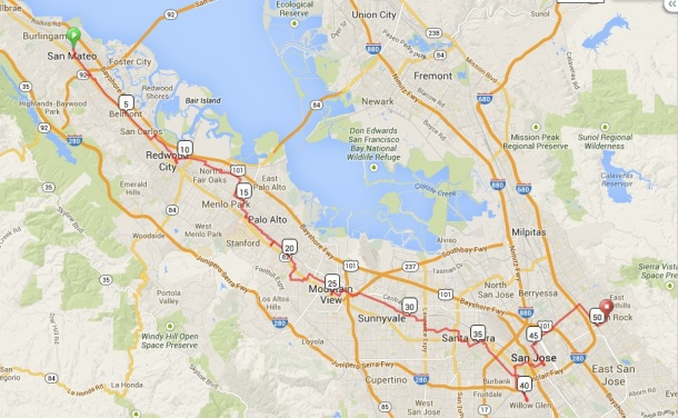 Cowgirl Bike Courier Map