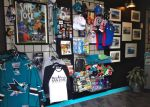 At the stop downtown, you can pick up San Jose logo items, including Sharks team jerseys.